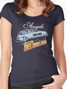 The Angels Have the Delorean Women's Fitted Scoop T-Shirt