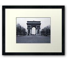 Arc de Triomphe - in 1945 Framed Print