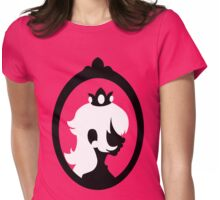 Princess Peach - Silhouette in Frame  Womens Fitted T-Shirt