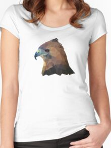 Low-Poly Falcon Women's Fitted Scoop T-Shirt