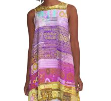 Geometric Colors A-Line Dress