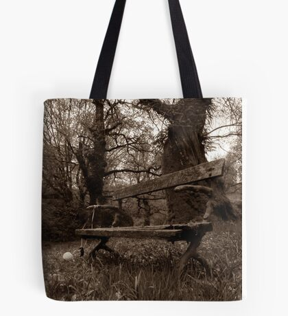Old Bench Tote Bag
