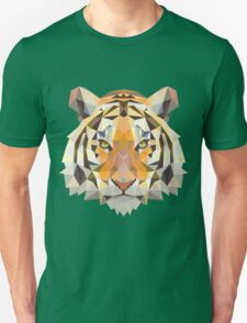 Tiger in Blurry and Digital Design Unisex T-Shirt
