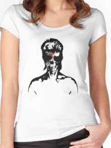 David Bowie Graphic T-Shirt Women's Fitted Scoop T-Shirt