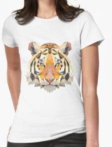 Digital and Cartoonish Tiger design Womens Fitted T-Shirt