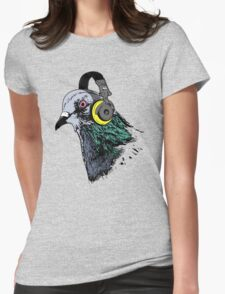 Techno Pigeon v2 Womens Fitted T-Shirt