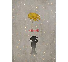 Ghibli Minimalist 'Grave of the Fireflies' Photographic Print