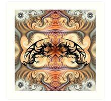 Dragon Spirals and tribal tattoo Dragons Art Print