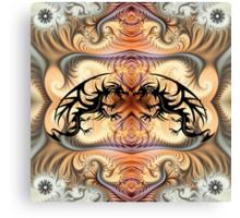 Dragon Spirals and tribal tattoo Dragons Canvas Print