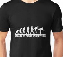 Funny Human Evolution Unisex T-Shirt
