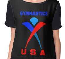 Team USA Gymnastic Olympics Chiffon Top
