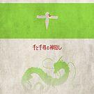 Ghibli Minimalist 'Spirited Away' by doodlewhale
