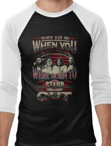 NATIVE AMERICAN WHY FIT IN WHEN YOU WERE BORN TO STAND OUT Men's Baseball ¾ T-Shirt