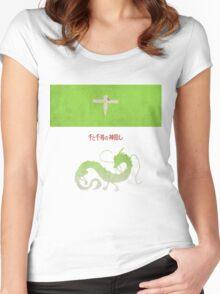 Ghibli Minimalist 'Spirited Away' Women's Fitted Scoop T-Shirt