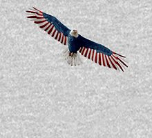 American Flag Bald Eagle Unisex T-Shirt