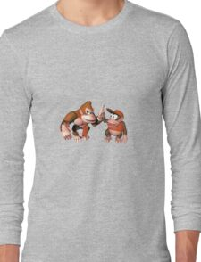 Donkey kong and Diddy Kong Long Sleeve T-Shirt