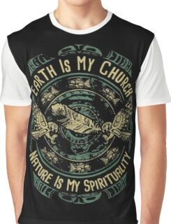 NATIVE AMERICAN EARTH IS MY CHURCH NATURE IS MY SPIRITUALITY Graphic T-Shirt