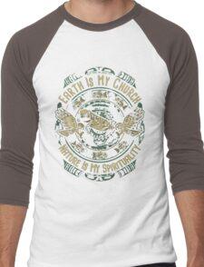 NATIVE AMERICAN EARTH IS MY CHURCH NATURE IS MY SPIRITUALITY Men's Baseball ¾ T-Shirt