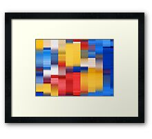 Abstract Chips Framed Print