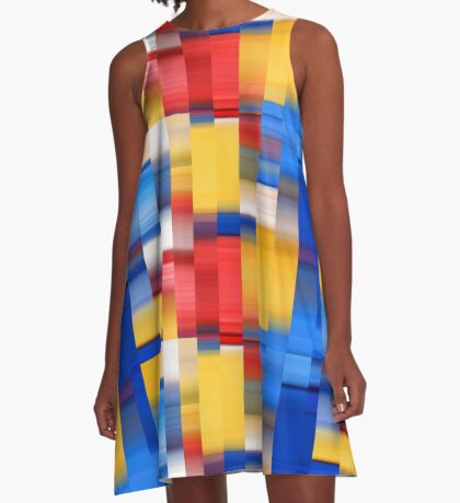 Abstract Chips A-Line Dress