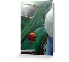 green volkswagen Greeting Card