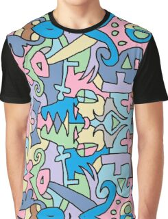 Funky Punky Pattern Graphic T-Shirt