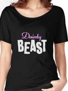Dainty Beast (on black) Women's Relaxed Fit T-Shirt