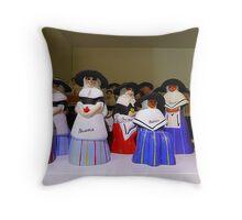 Majorcan Dolls Throw Pillow