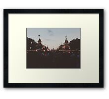 Main Street Night Lights Framed Print