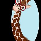 Giraffe Here's Looking At You by redqueenself