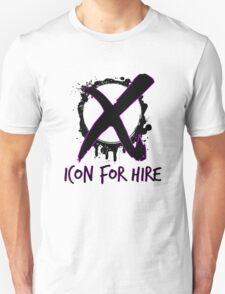 Icon For Hire XO Black Text Unisex T-Shirt