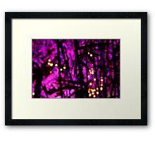 Purple Riot Framed Print