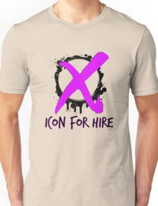 Icon For Hire XO Black Text Pink X Unisex T-Shirt