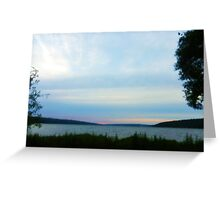 FINGER LAKES CAYUGA LAKE Greeting Card