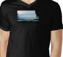 FINGER LAKES CAYUGA LAKE Mens V-Neck T-Shirt