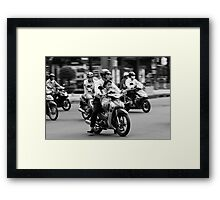 Traffic ... Ho Chi Minh City , Vietnam ... #02 Framed Print