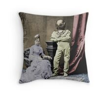 Jules Verne inspired Throw Pillow
