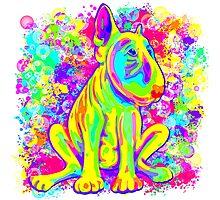 Colour Splash Bull Terrier Poster  Photographic Print