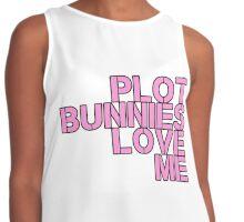 Plot Bunnies Love Me - Pink Contrast Tank
