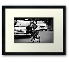Traffic ... Ho Chi Minh City , Vietnam ... #04 Framed Print