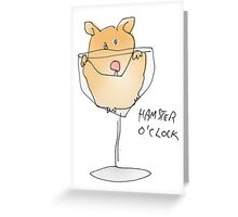 hamster time Greeting Card