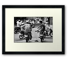 Time Out ... Ho Chi Minh City ... Vietnam Framed Print