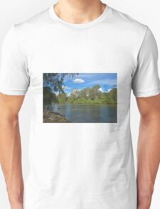 Wispy clouds over the river T-Shirt