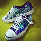 Peacock canvas shoes  by norakaren