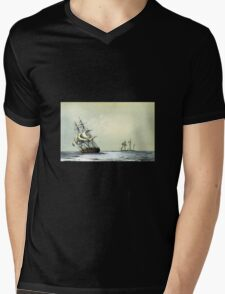 """The """"Resolute"""" Under Sail For The Last Time (1853) Mens V-Neck T-Shirt"""
