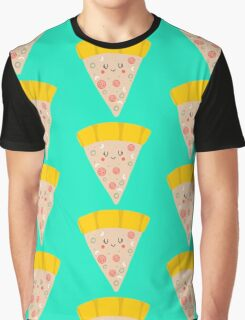 Cute funny smiling pizza slice Graphic T-Shirt