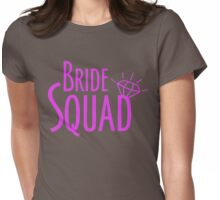 Bride Squad in Hot Pink Womens Fitted T-Shirt