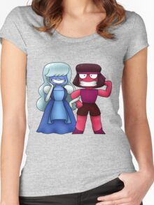 Steven Universe: Sapphire and Ruby Women's Fitted Scoop T-Shirt