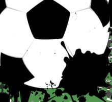 Soccer Ball on Rays Background 5 Sticker