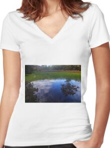 Natural Reflections Women's Fitted V-Neck T-Shirt